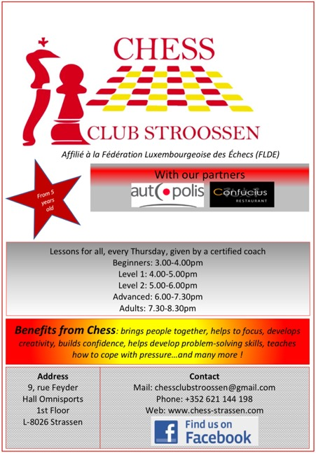 Chess in Strassen: preparing the season 2019-2020