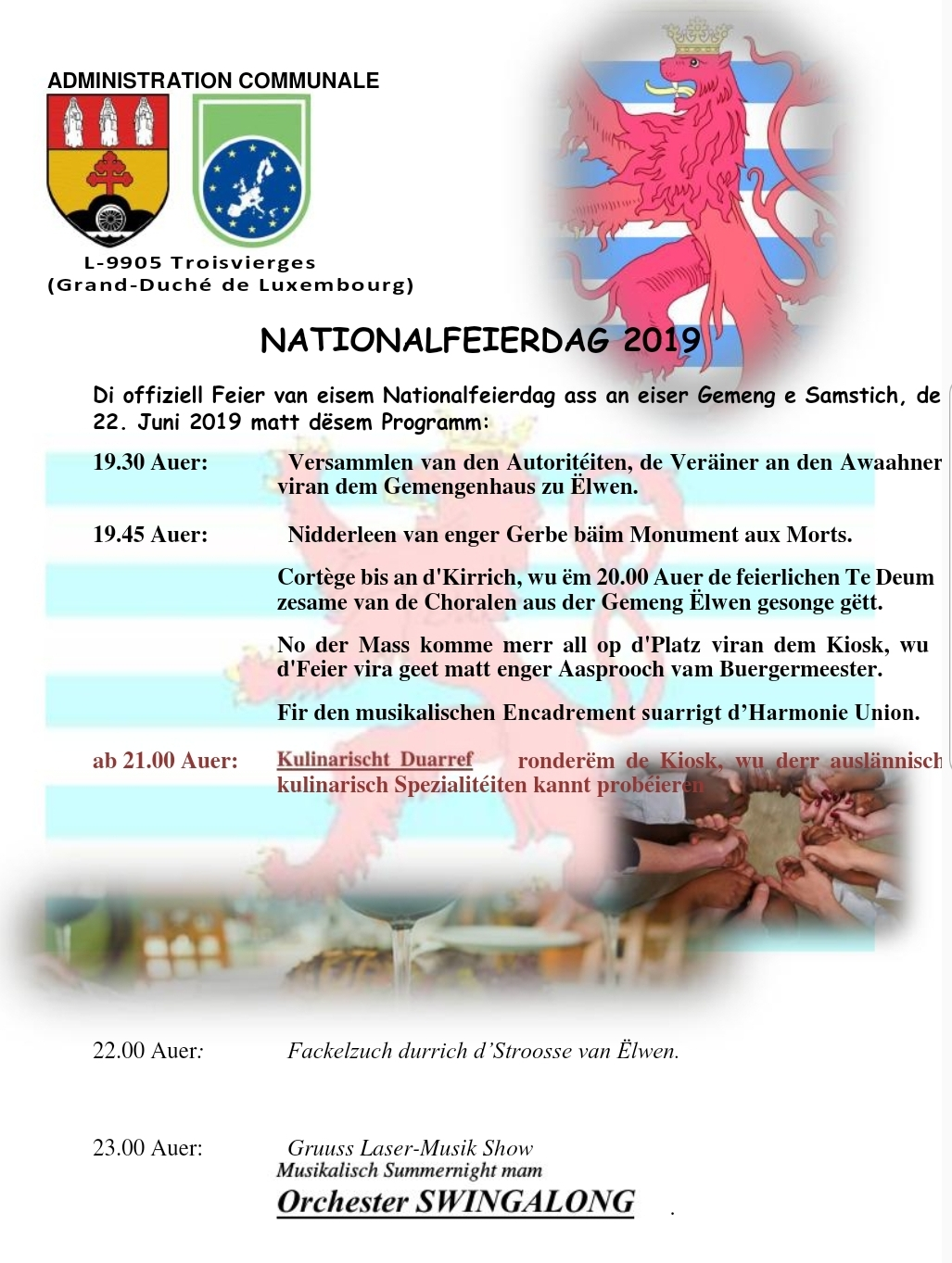 Nationalfeierdag 2019