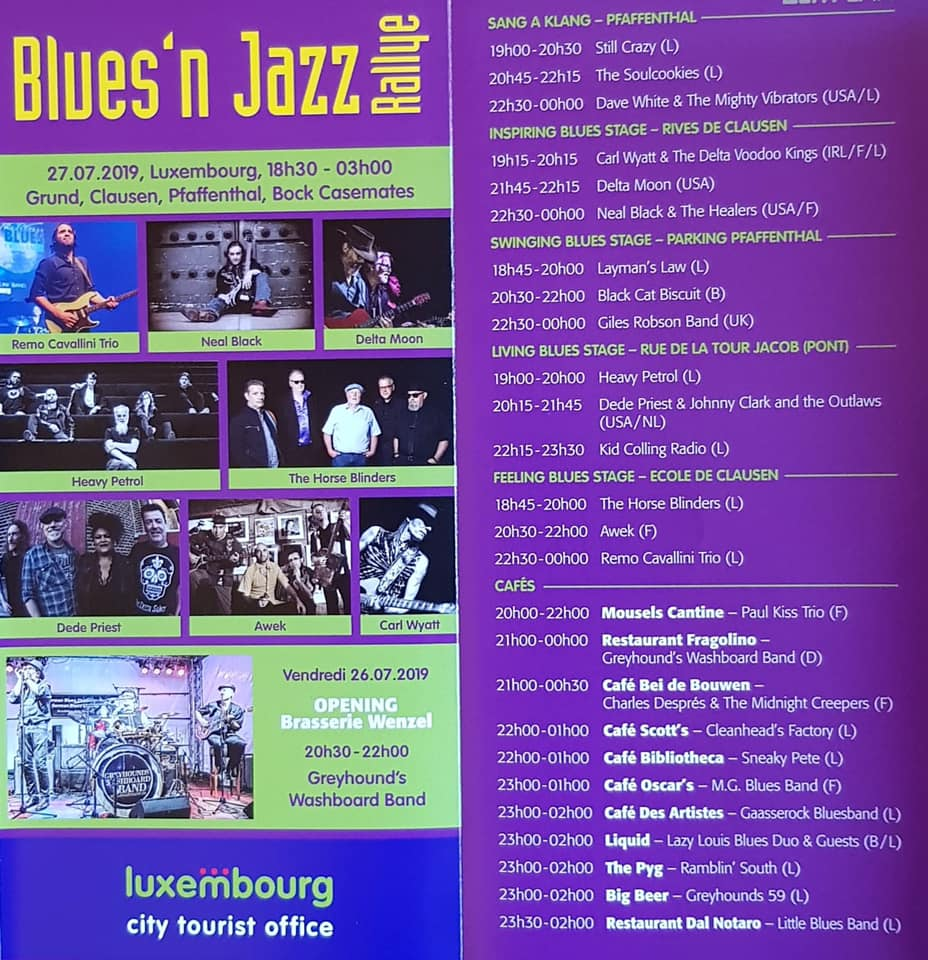 AB Contern goes Blues'n Jazz Rallye 27 . 07. 19 @ Rives de Clausen