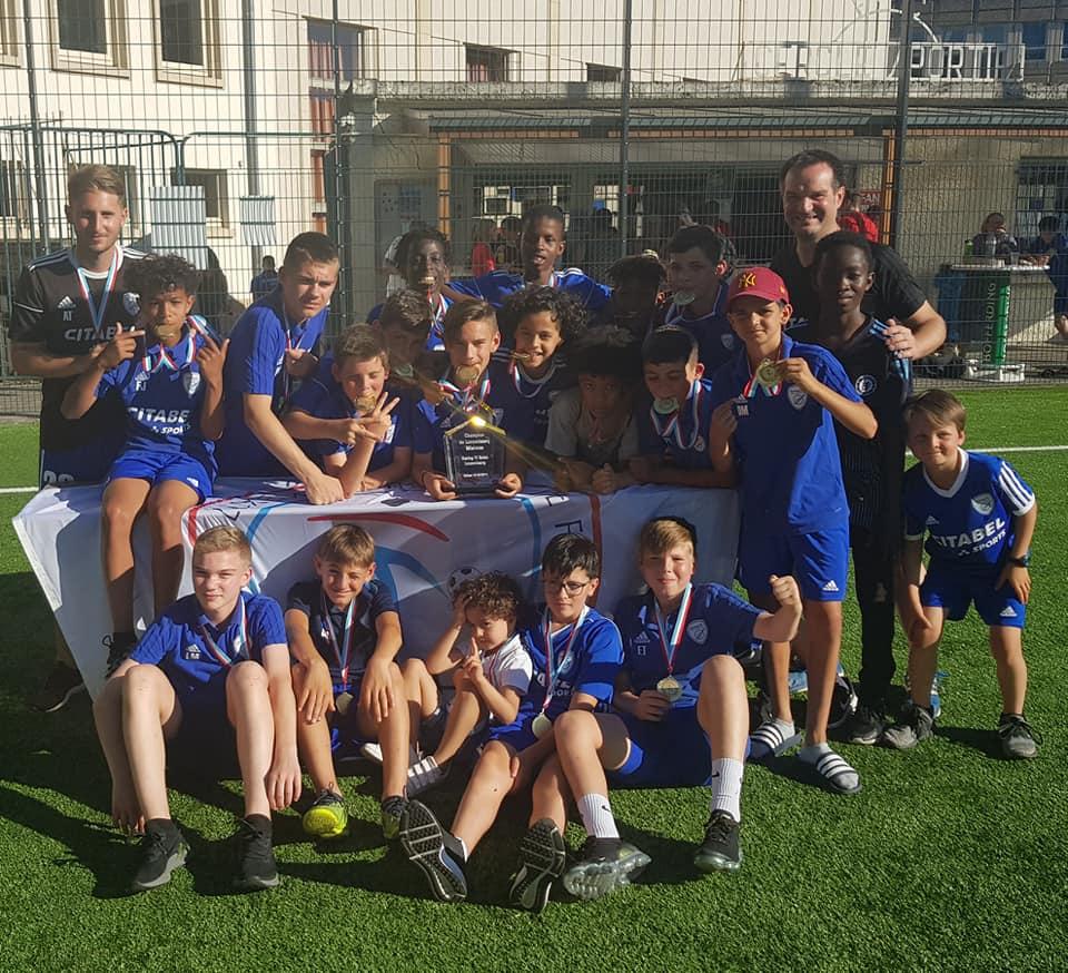 Vainqueurs du Championnat Minimes