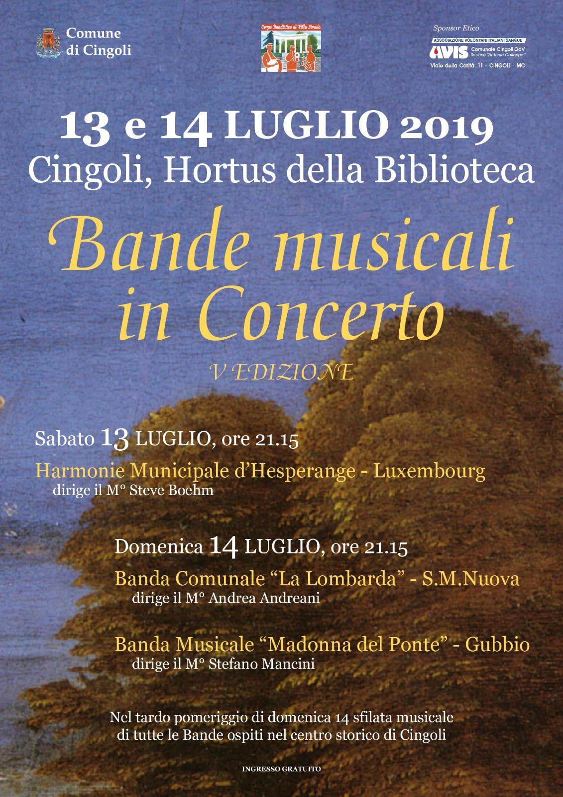 Eröffnung vum Festival Bande Musicale in Concerto zu Cingoli