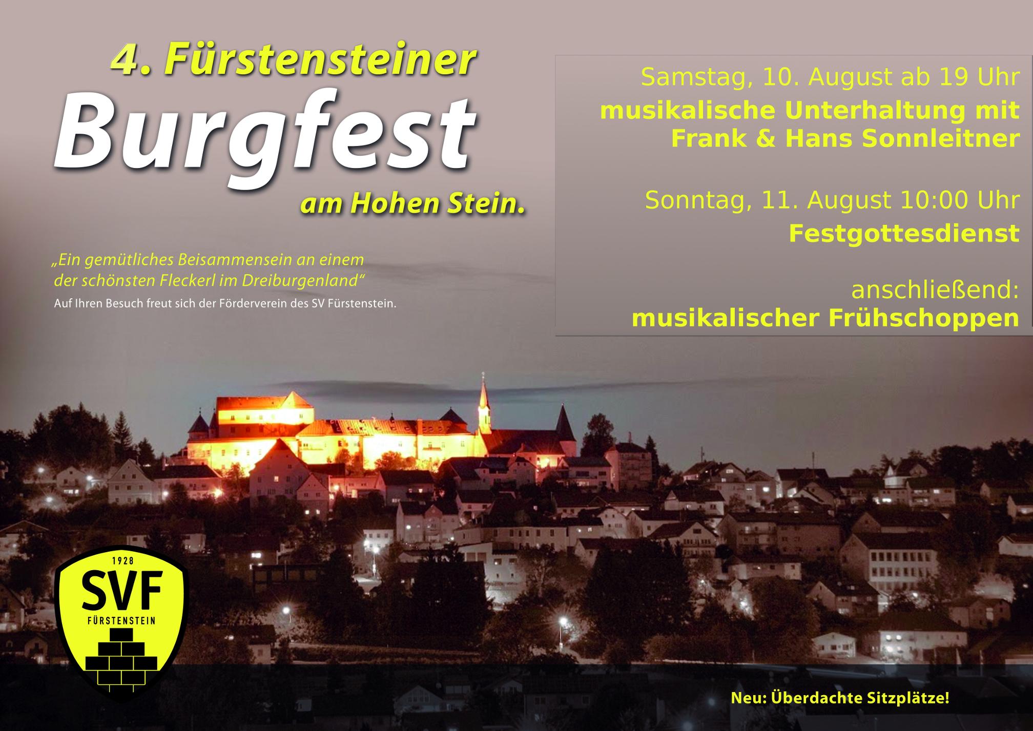 Burgfest am 10. und 11. August!