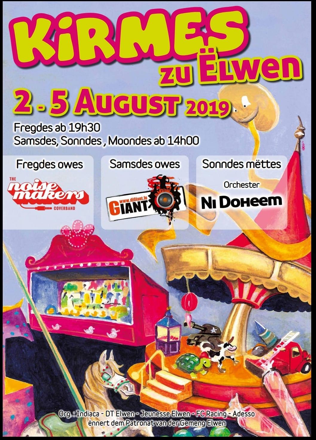 Kirmes zu Ëlwen 2.-5.August 2019