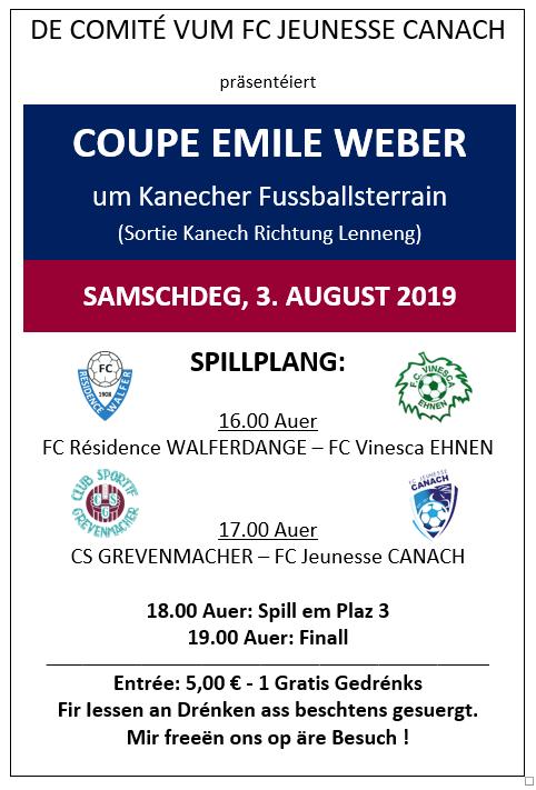 03/08/2019 Coupe Emile Weber