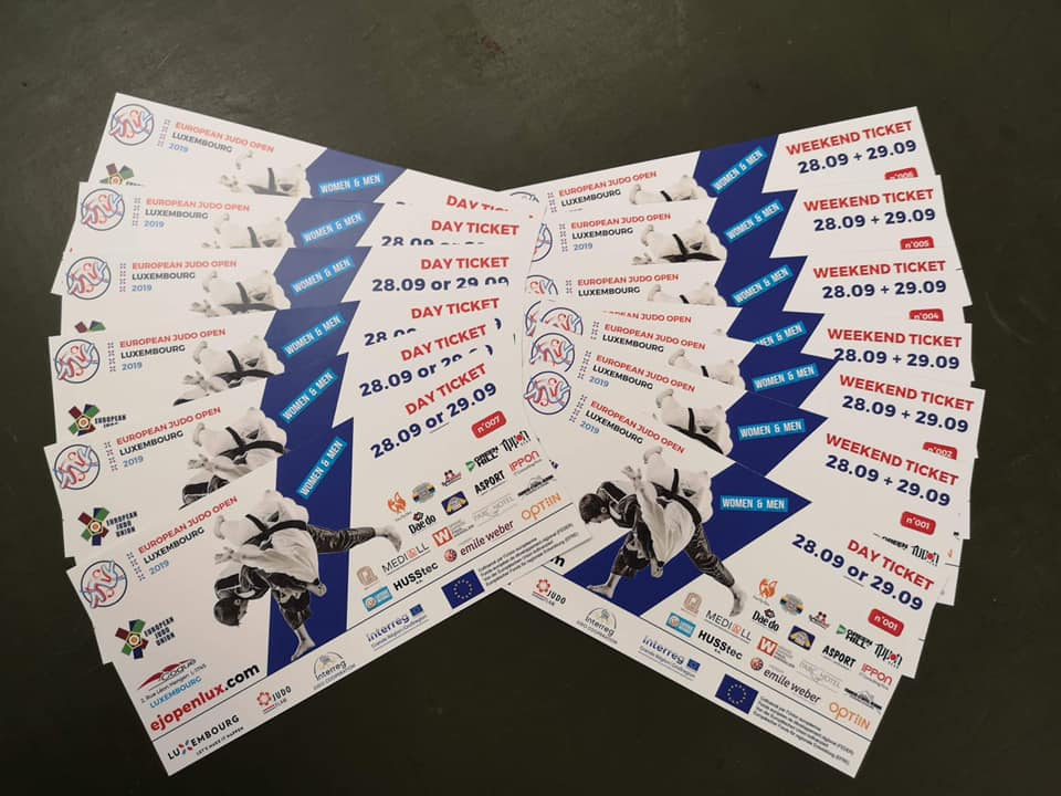 Tickets - European Judo Open Luxembourg 2019