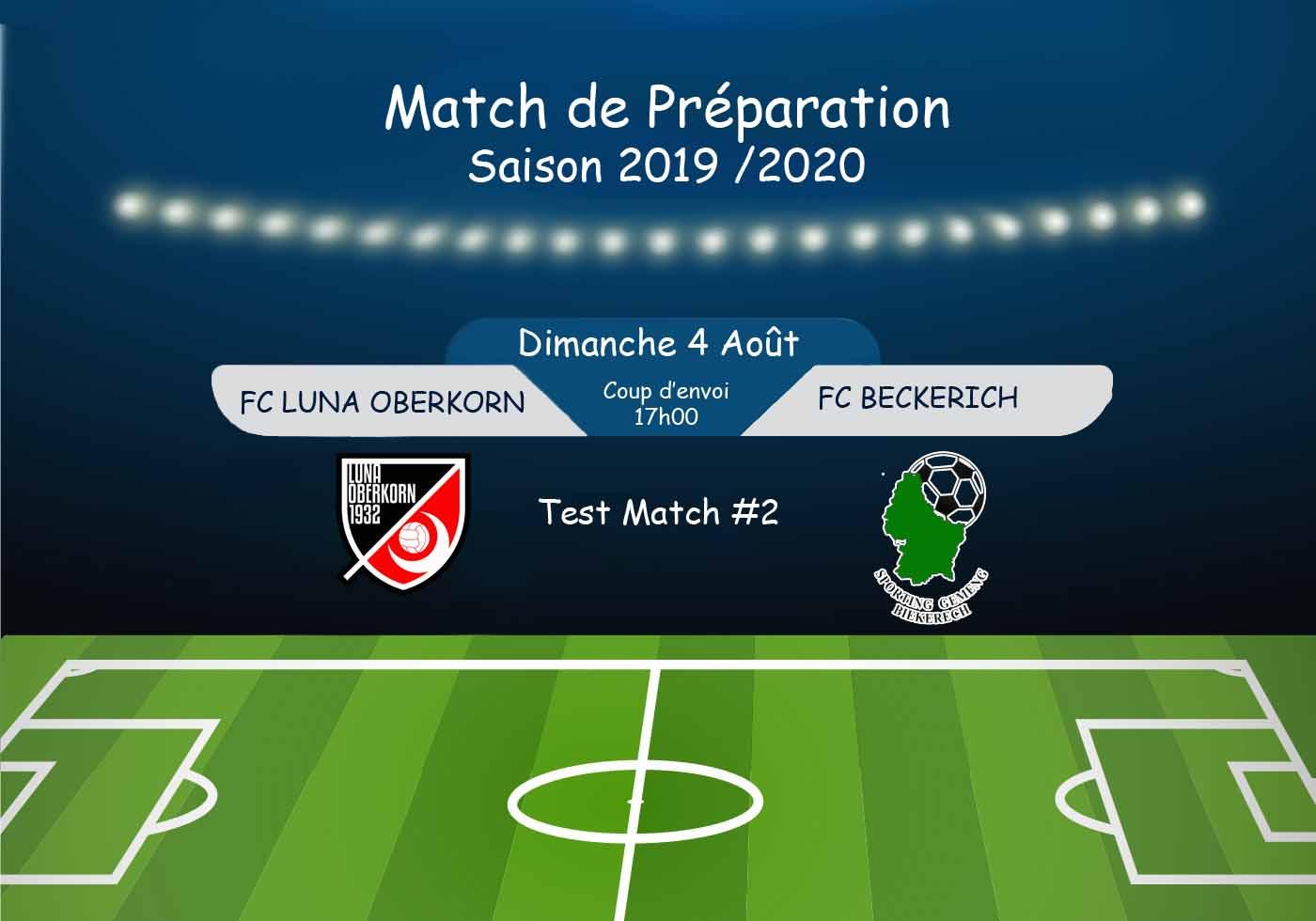 Match de Préparation - Saison 2019 / 2020