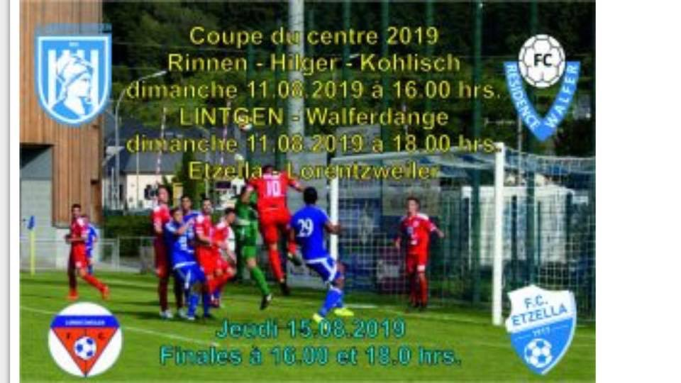 11/08/2019 Coupe du Centre