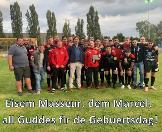 Eisem Masseur, dem Marcel, all Guddes fir de Gebuertsdag!