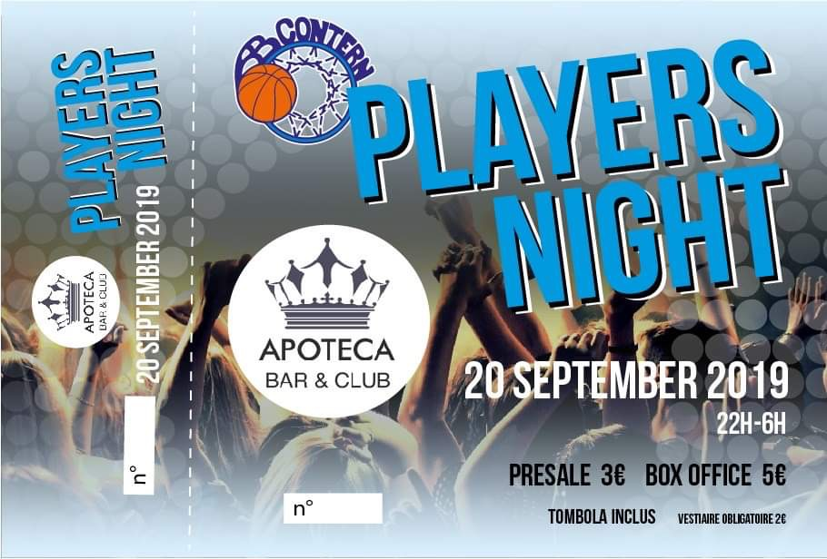 Players Night @ Apoteca   ** 20 SEP 2019 **