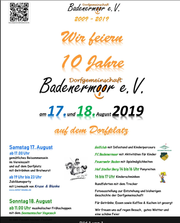 Dorffest am Wochenende in Badenermoor