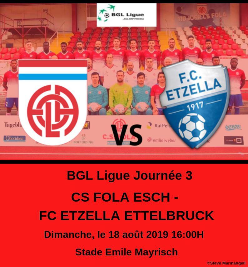 CS FOLA - Etzella Ettelbrück 18/08/2019