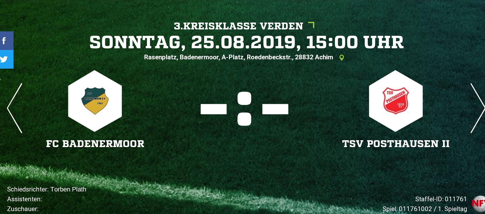 Saisonbeginn gegen TSV Posthausen 2