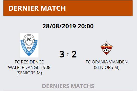 28/08/2019 Résultat Match Coupe FLF