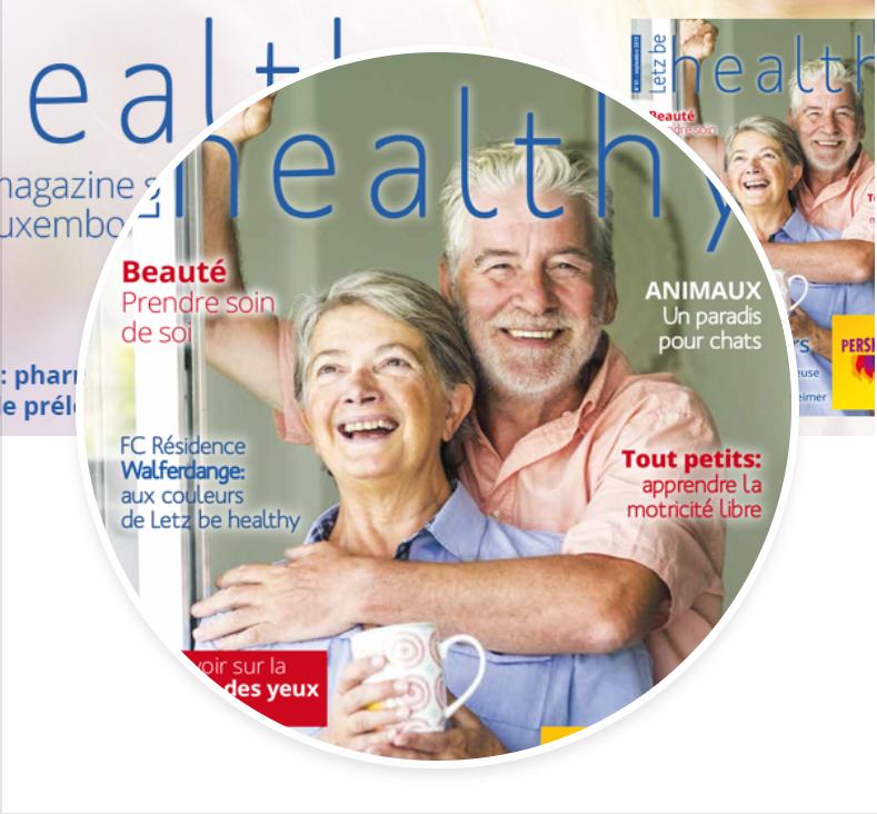 03/09/2019 Magazine de notre partenaire Letz be Healthy (voir pdf en annexe).