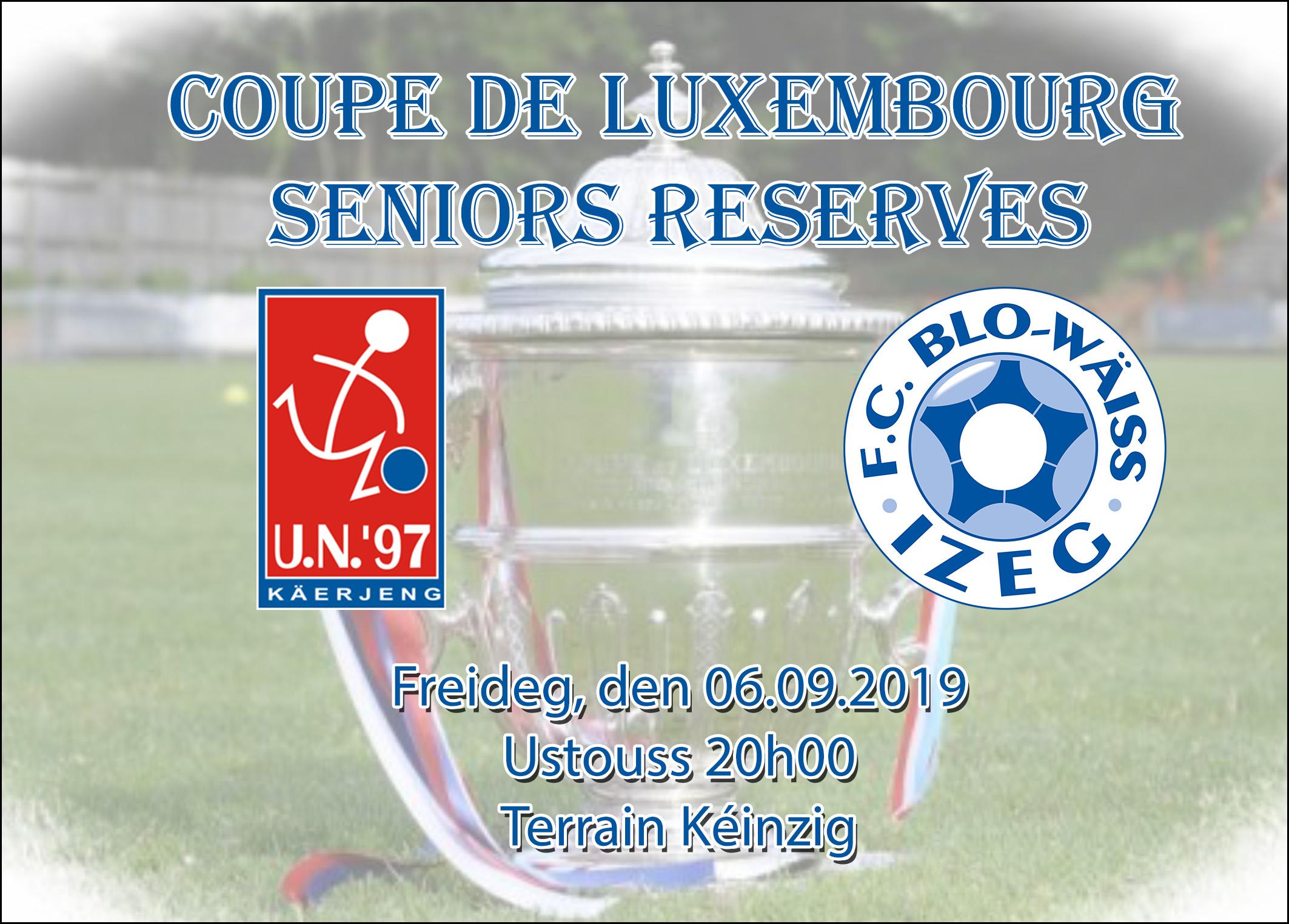 Coupe de Luxembourg - Seniors Reserven