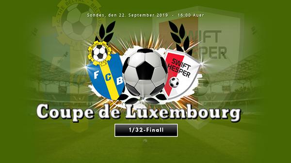 1/32 Finall: FC The Belval Belvaux - FC Swift Hesper
