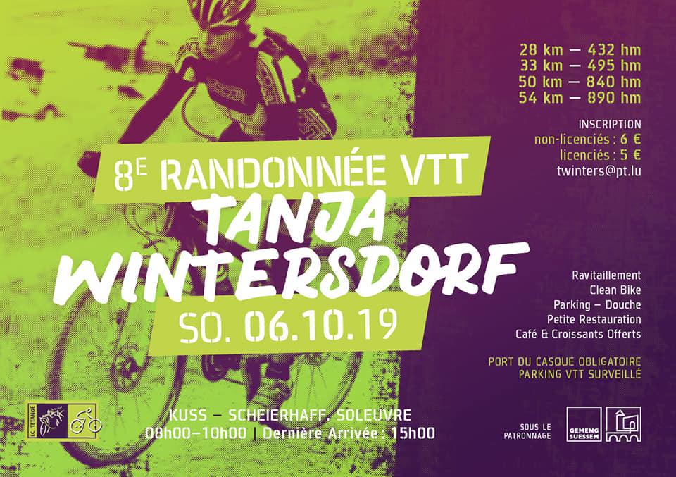 8ième Randonnée VTT Tanja Wintersdorf le 6. ocotbre 2019