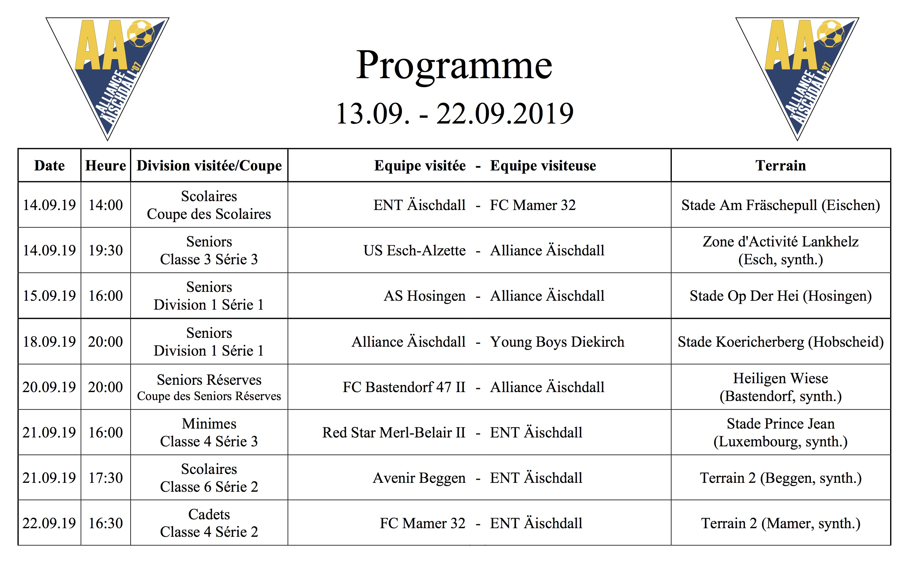 Programm 13.09.-22.09.2019