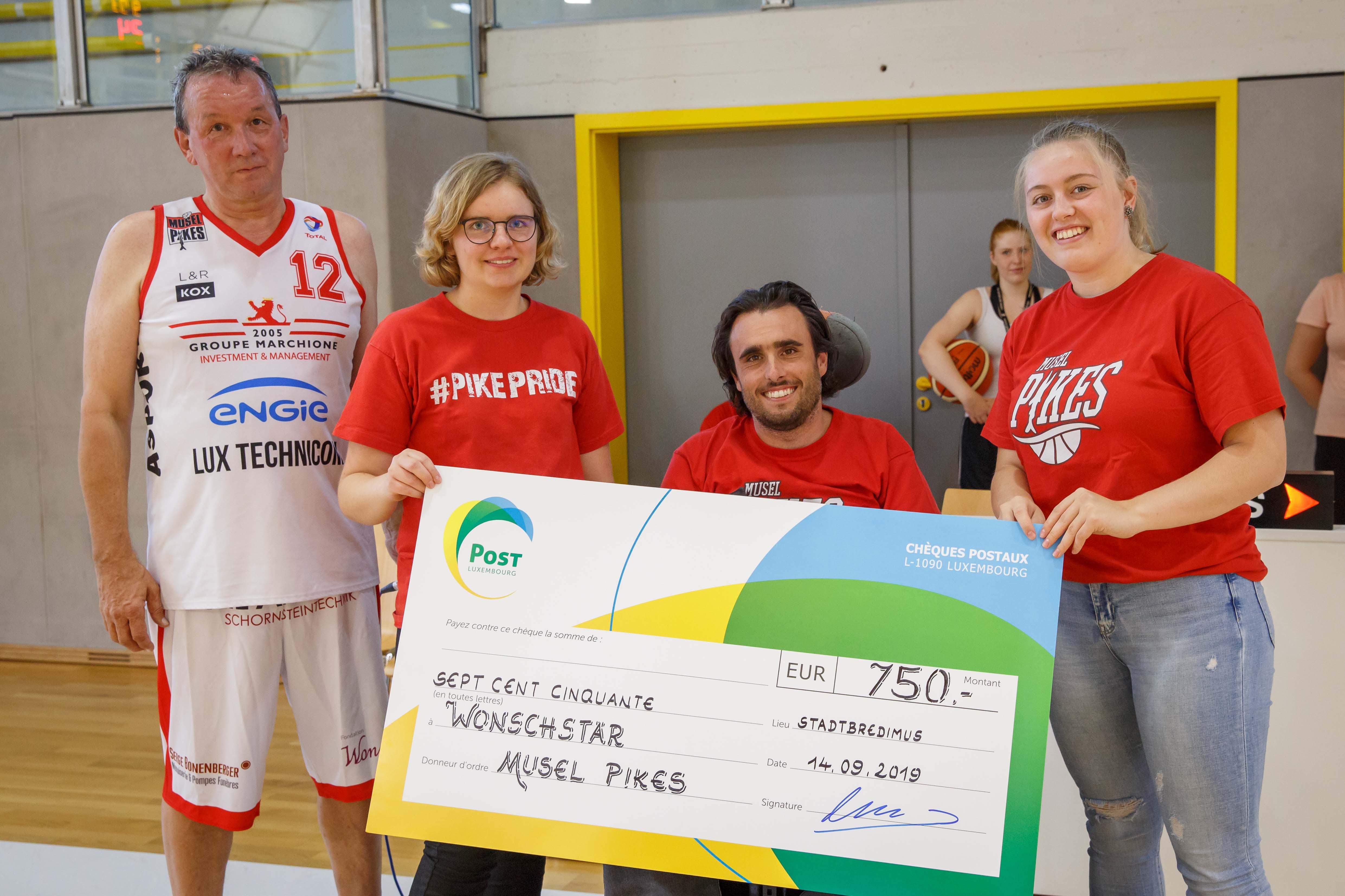 750 EURO fir d'Fondation Wonschstär