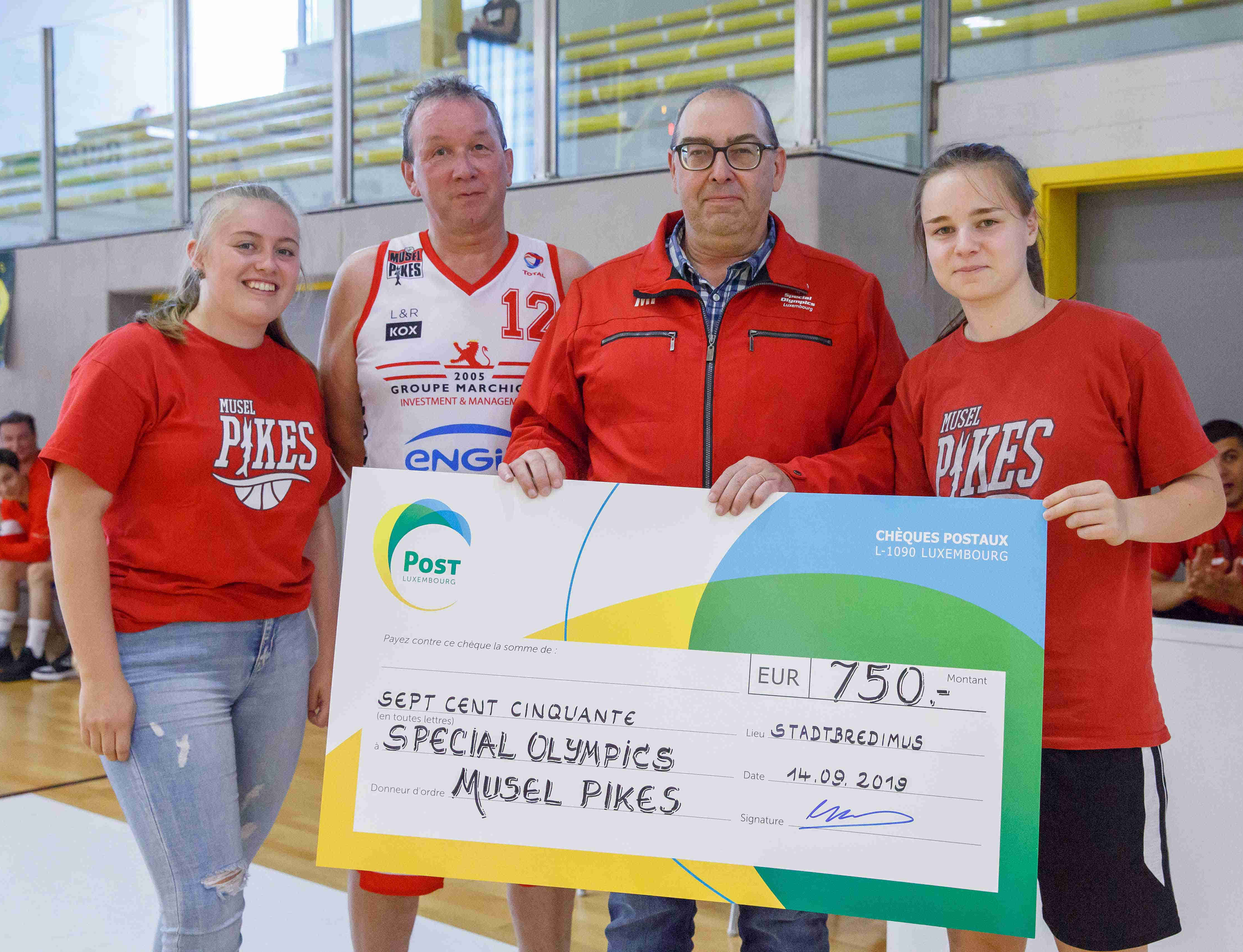 750 EURO fir Special Olympics Luxembourg
