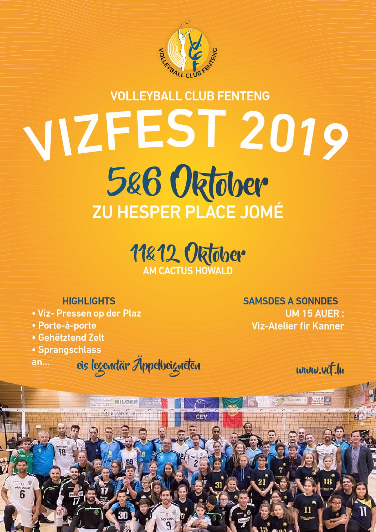 Vizfest 2019 5&6 Octobre à Hesperange, Place Jomé