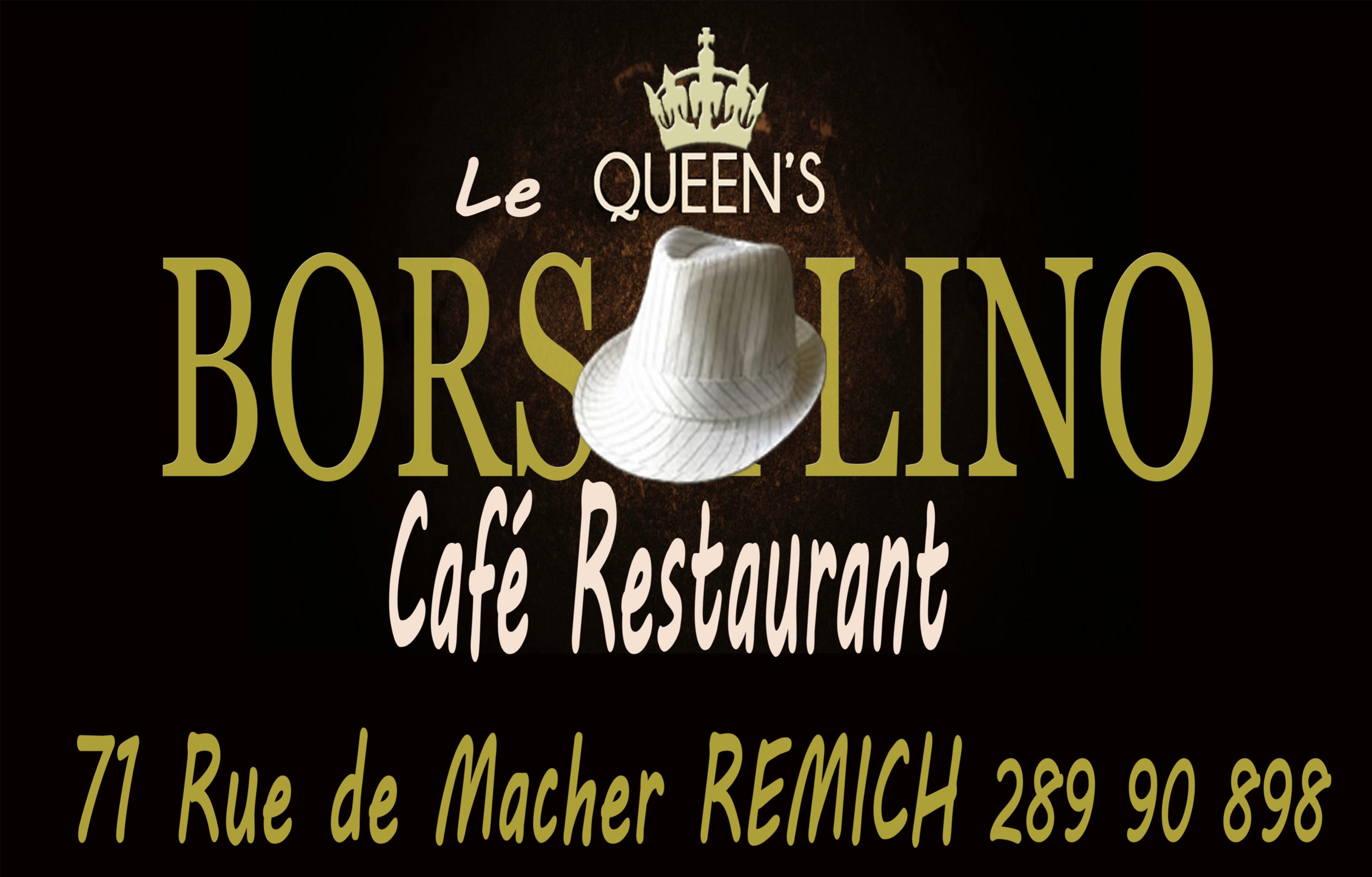 ! NEW PIKES SPONSOR ! Café-restaurant Le QUEEN'S BORSALINO