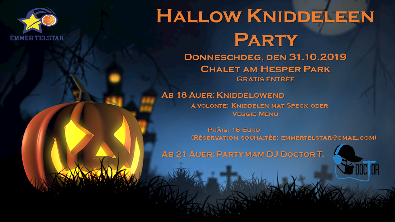 Hallowkniddeleen Party