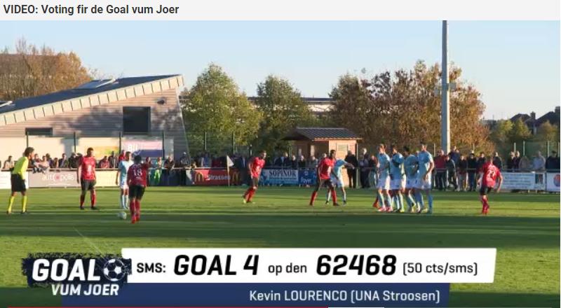 Stëmmt of  fir de Goal vum Joer - Kevin Lourenco !!!