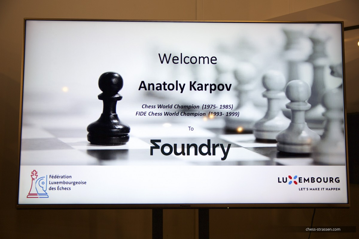 Anatoly Karpov in Luxembourg - 30th September 2019