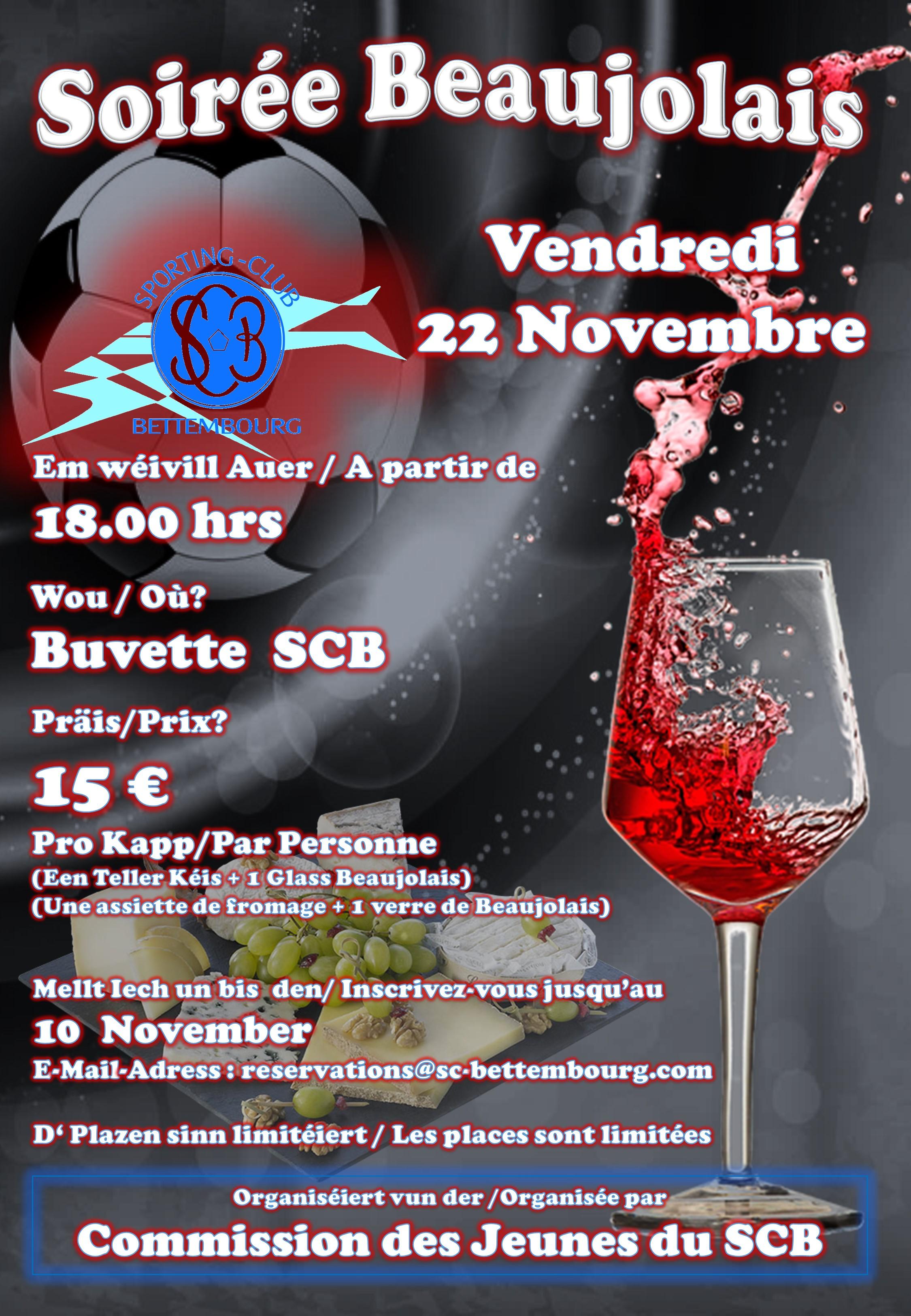 Soirée Beaujolais SCB