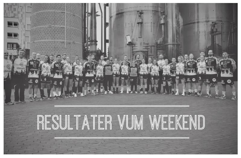 Resultater vum Weekend (5.-6. Oktober 2019)