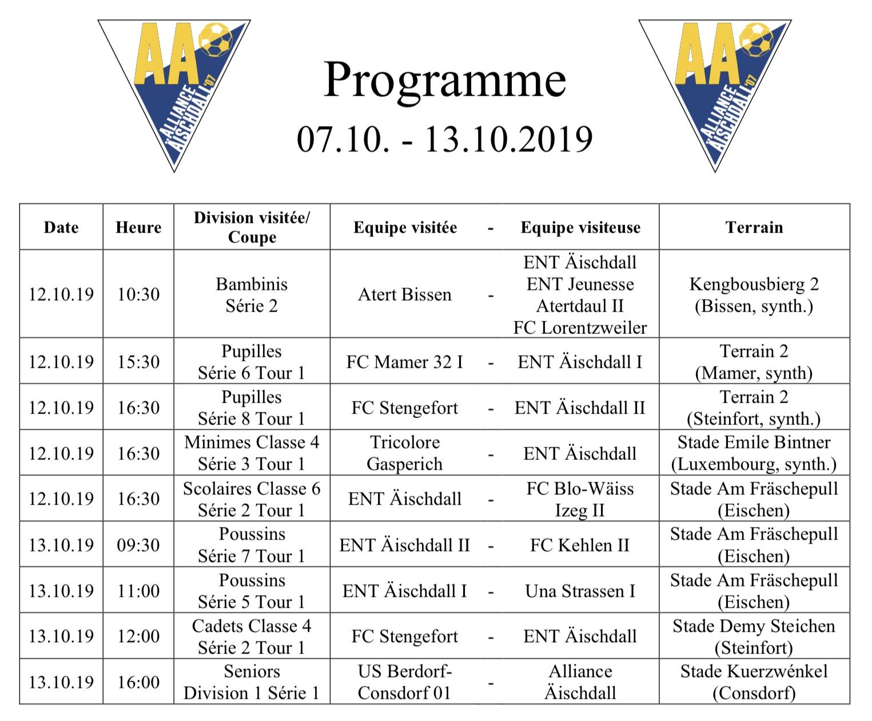 Programm 07.09.-13.10.2019