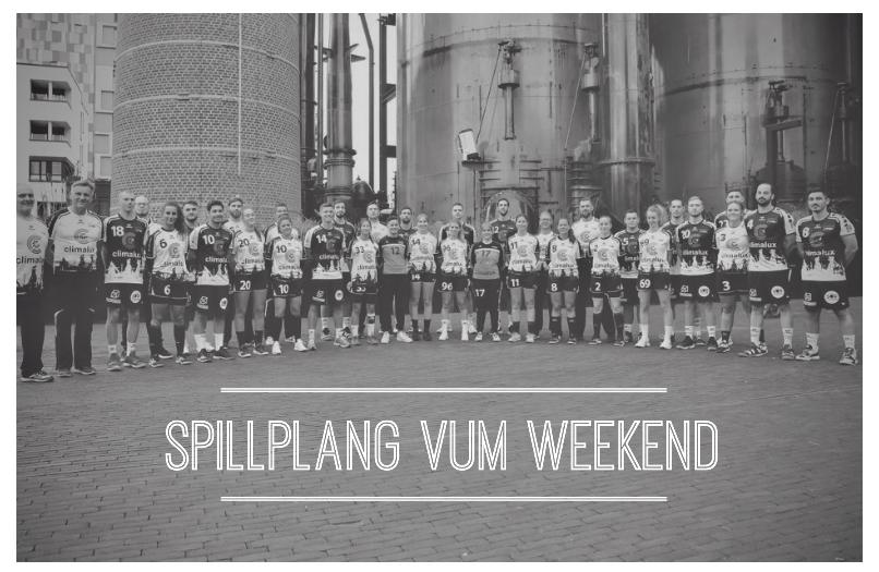 Spillplang vum Weekend (11.-13. Oktober 2019)