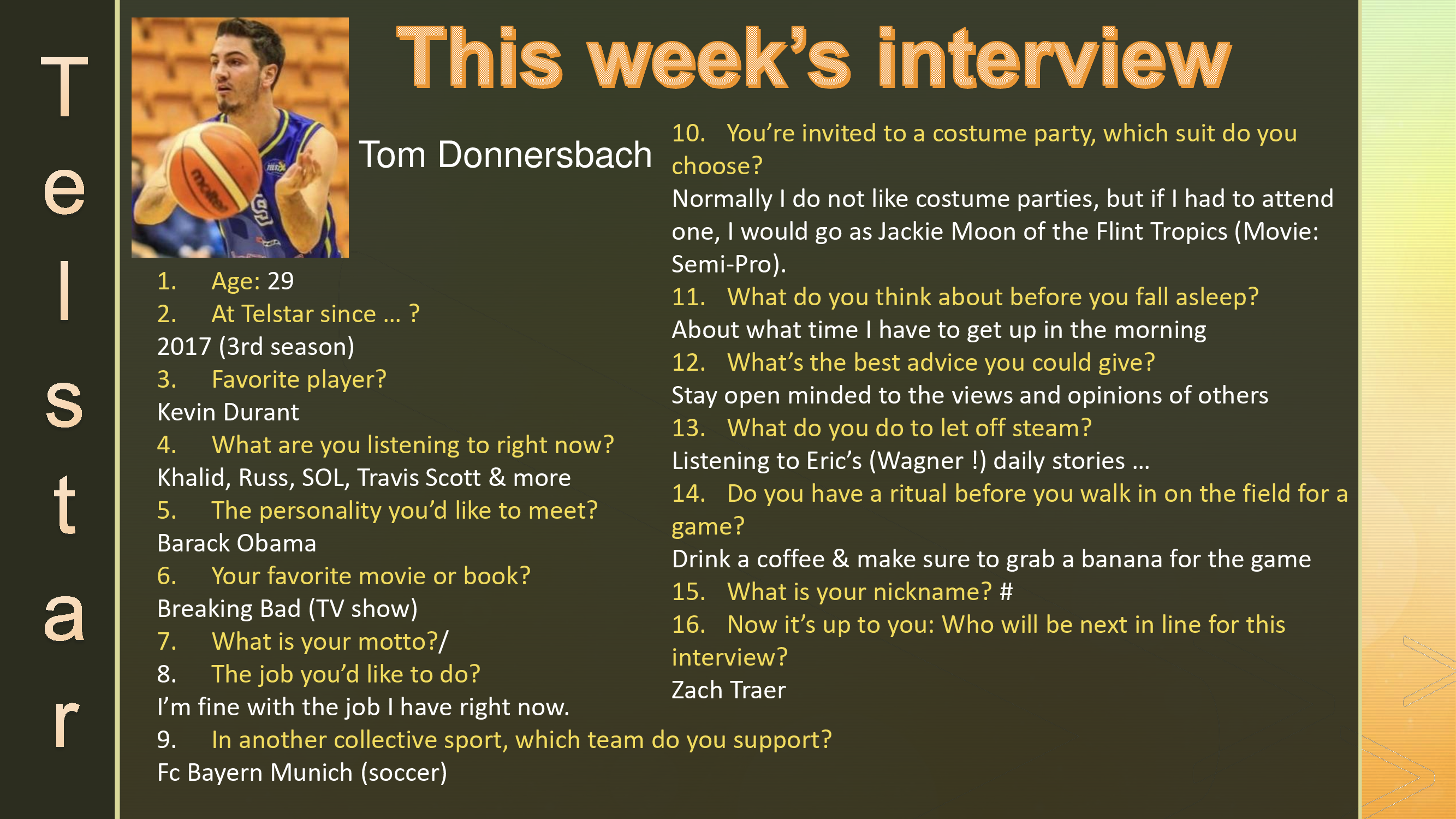 Interview of the Week #1