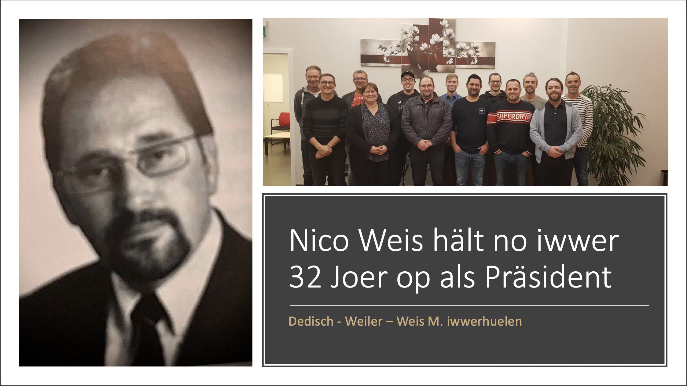 Nico Weis hält no iwwer 32 Joer op als Präsident vum FC 47 Baastenduerf