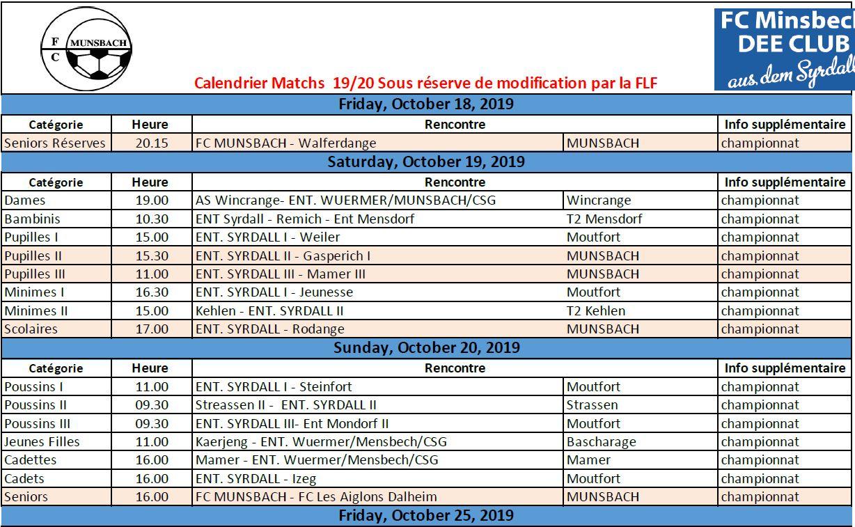 Match 18/10 - 20/10