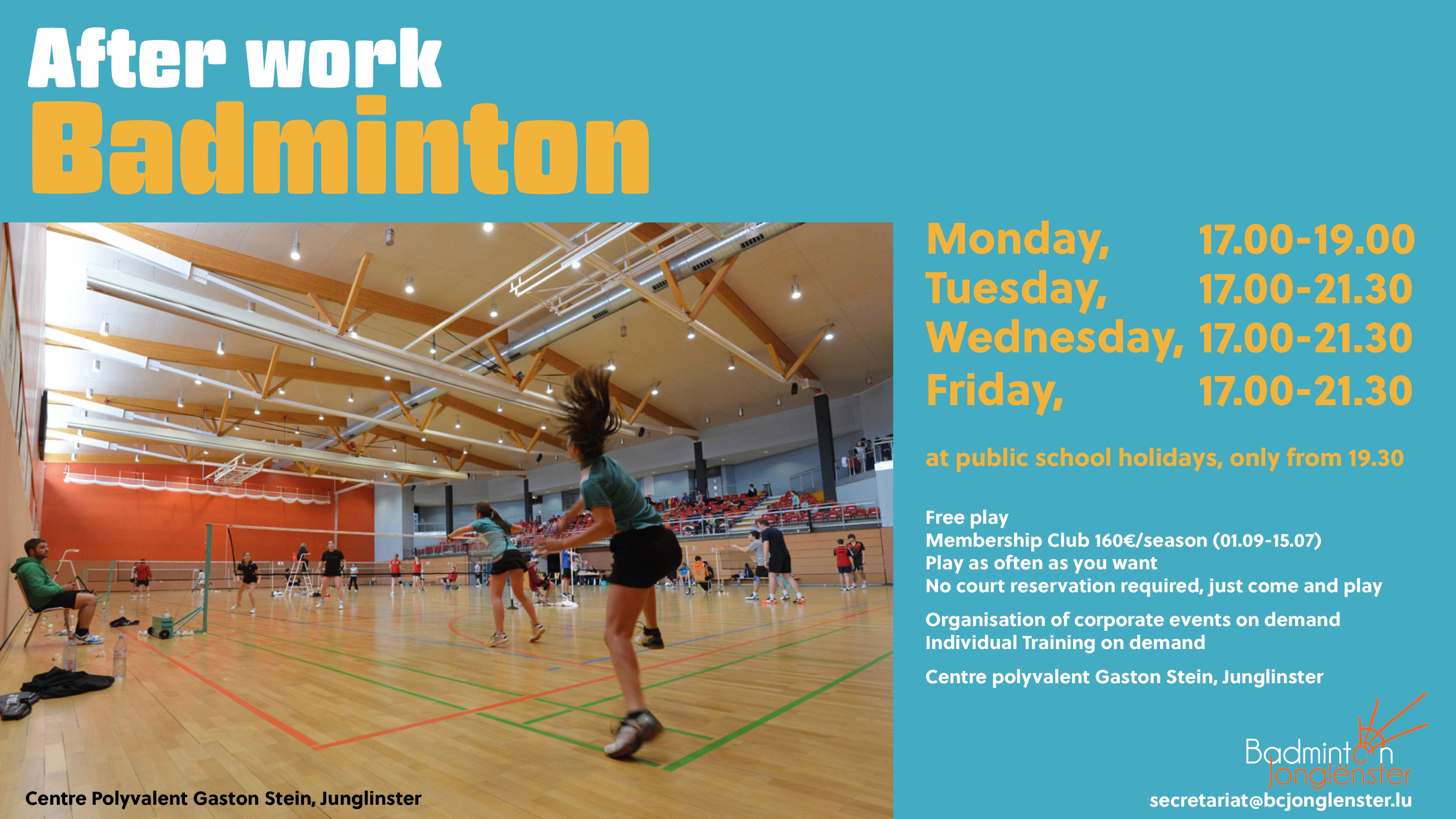 Afterwork Badminton