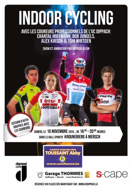 Indoor Cycling 2019 zu Miersch den 16/11/2019 - net vergiessen Iech unzemellen !