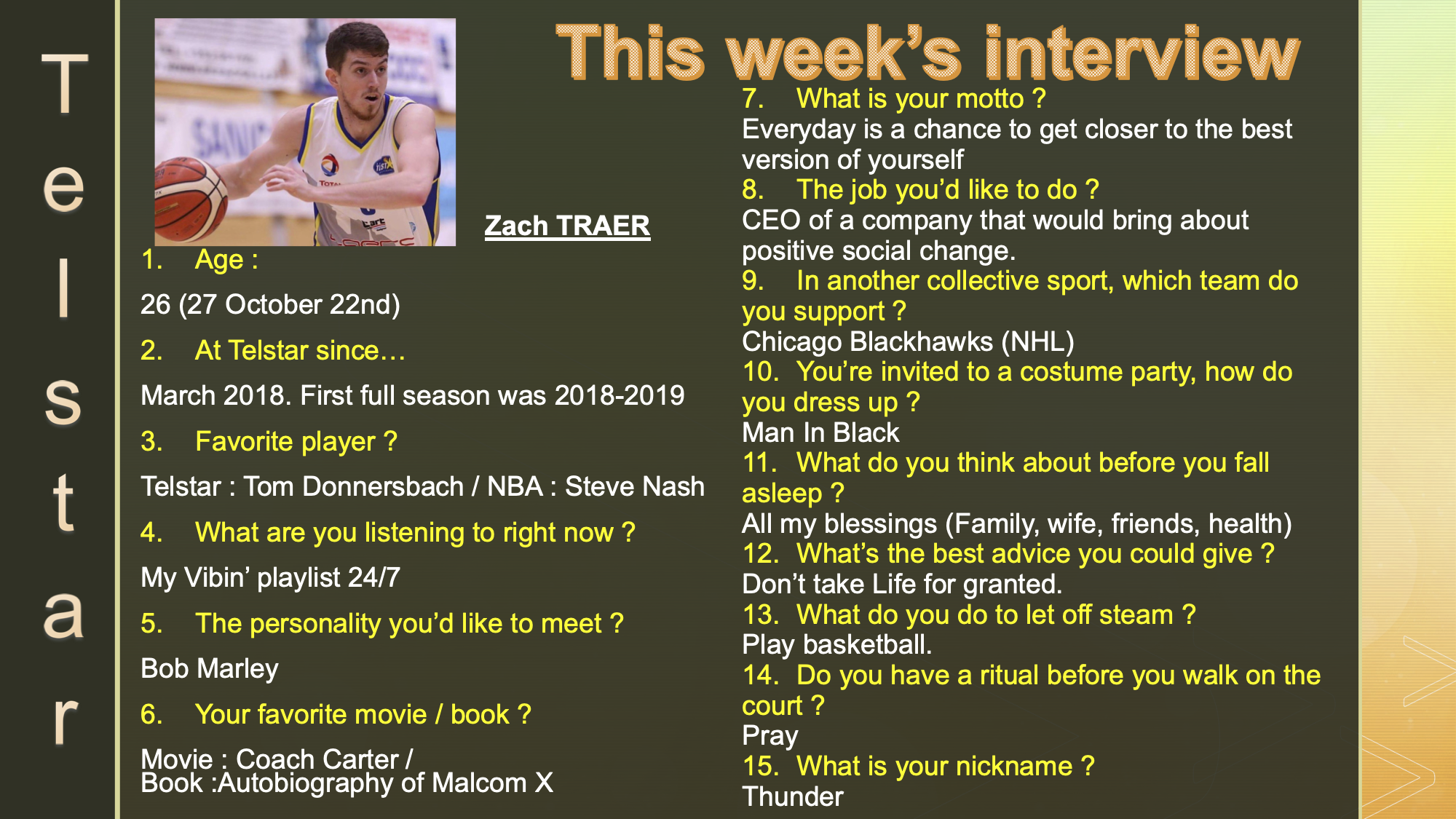 Interview of the Week #2