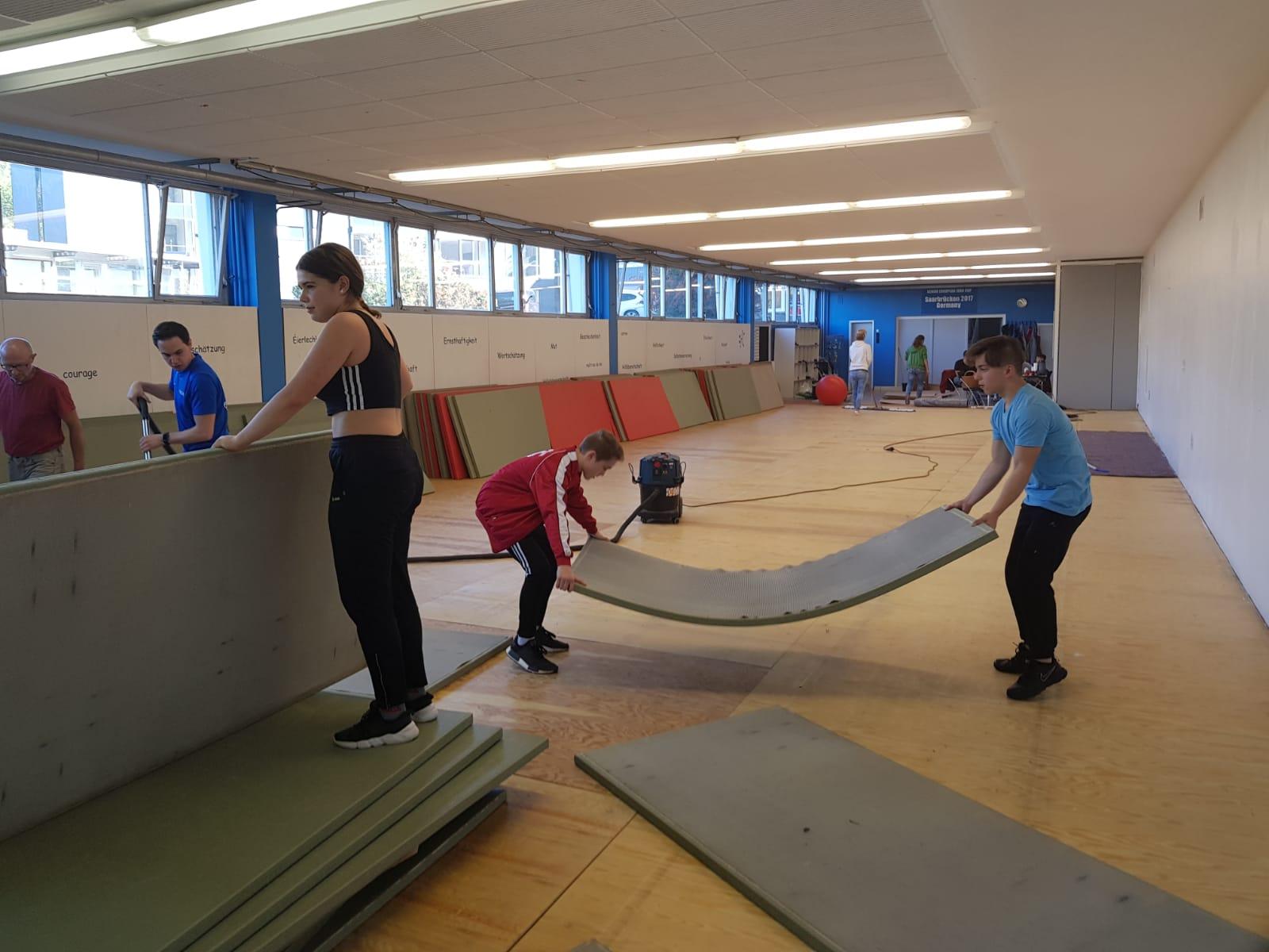 Dojo Renovierung an der Sportschule Saarbrücken
