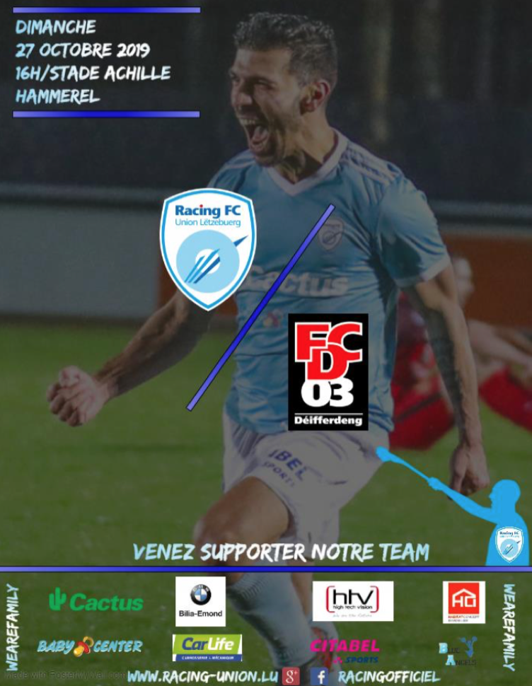 BGL LIGUE - RACING FC Vs FC03 DIFFERDANGE