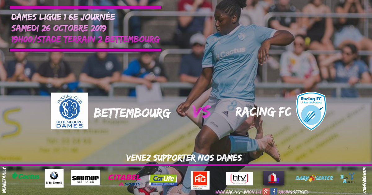 DAMES LIGUE 1 - BETTEMBOURG VS RACING FC