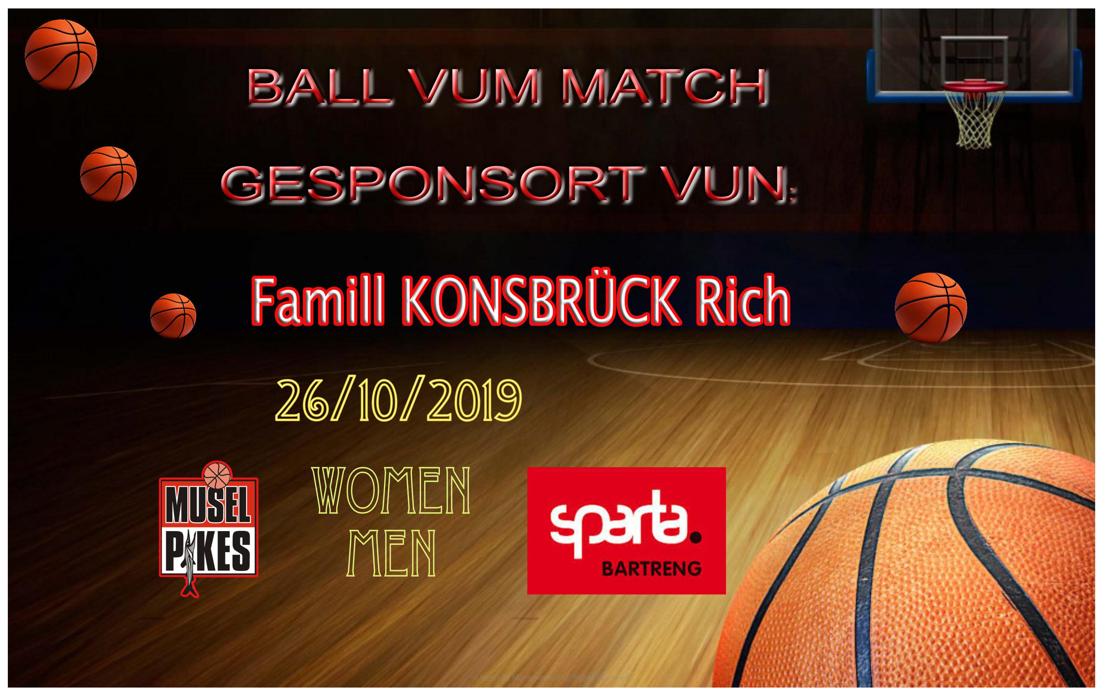Famill Konsbrück Rich Sponsor: Ball vum Match