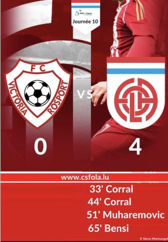 FC Vicroria Rosport - CS FOLA Esch 0-4