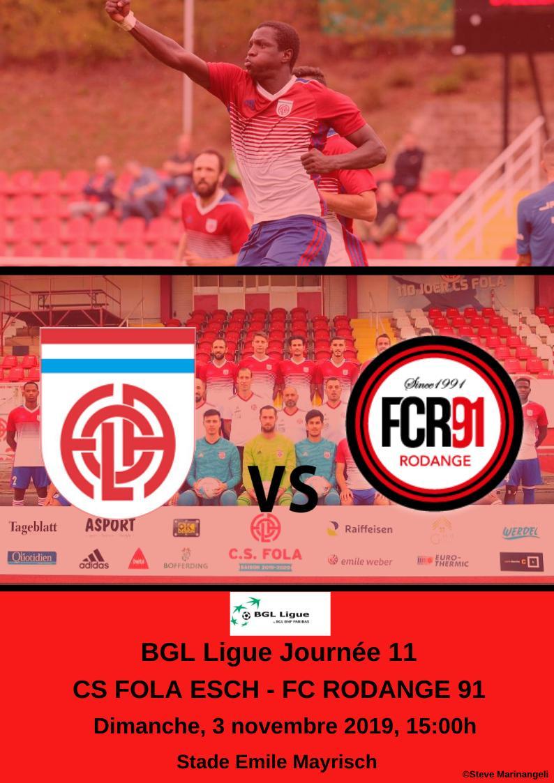 CS Fola Esch vs FCR91 Rodange