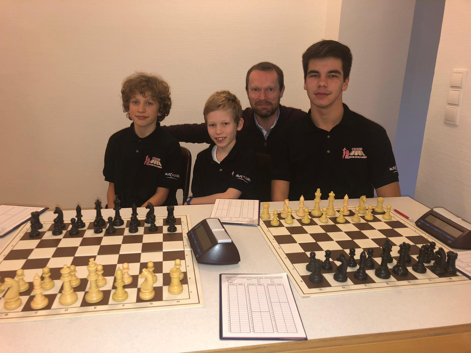 Chess result: Interclub Jeunes par équipes - 10+17 November 2019