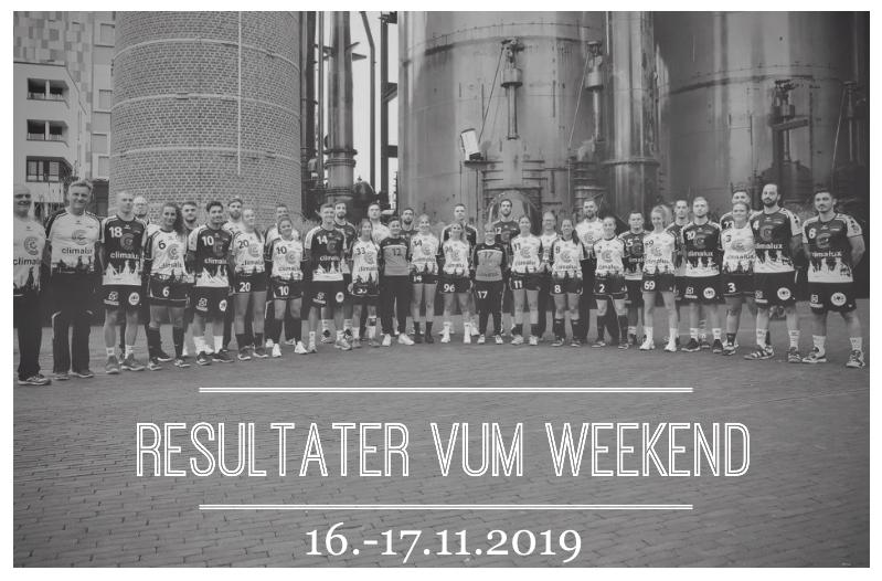 Resultater vum Weekend (16.-17.11.2019)