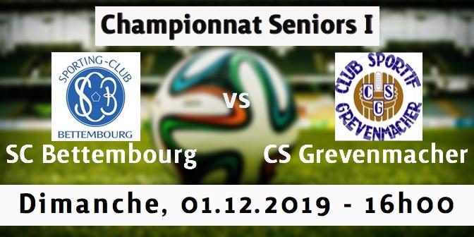 Prochain Match Seniors I