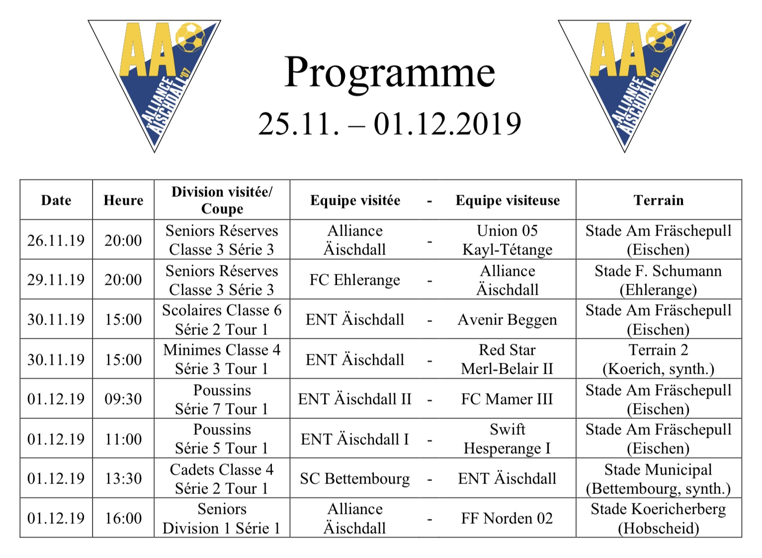 Programm 25.11.-01.12.2019