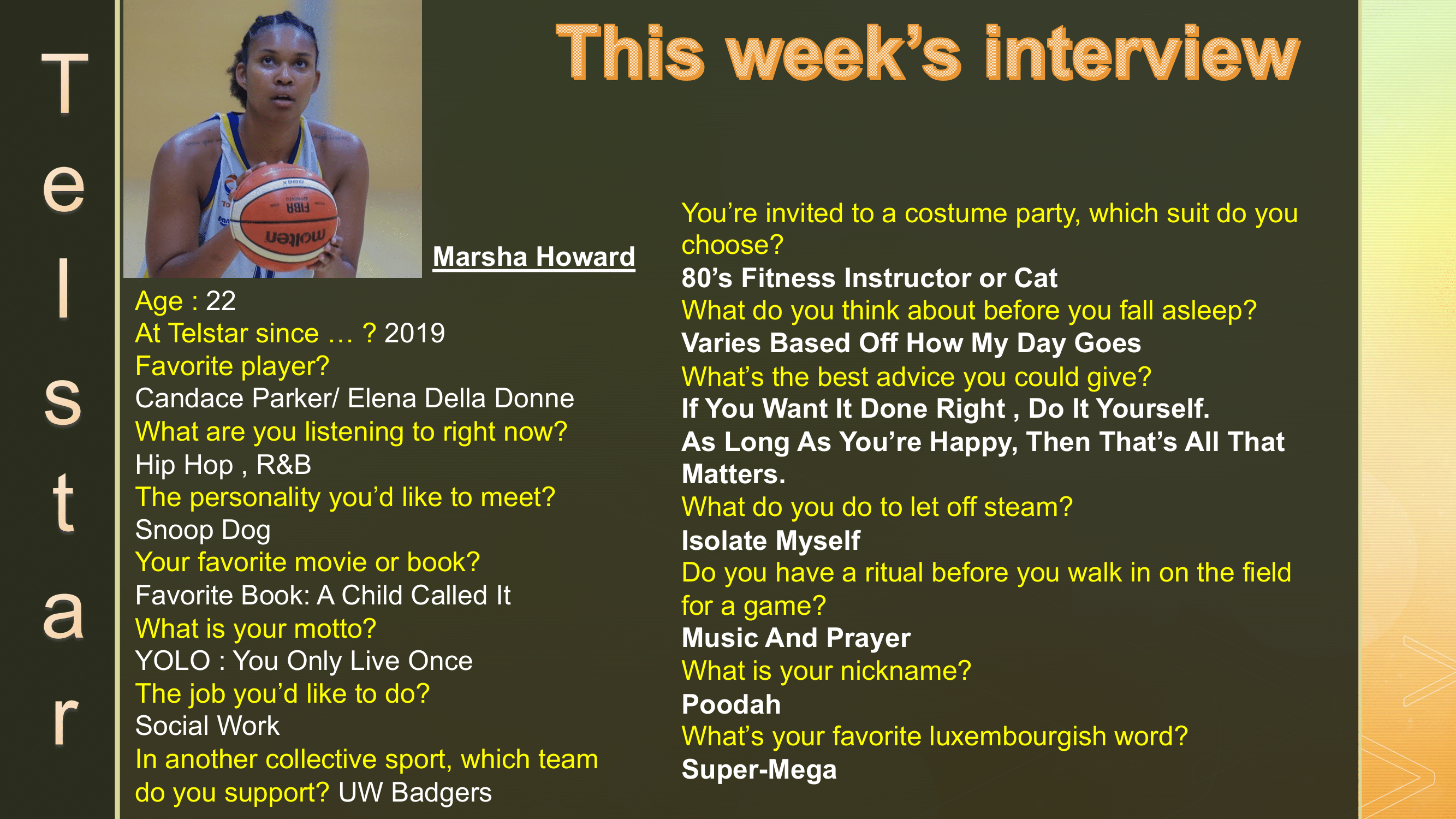 Interview of the Week #6